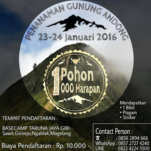 Event Penanaman Gunung Andong 23-24 Januari
