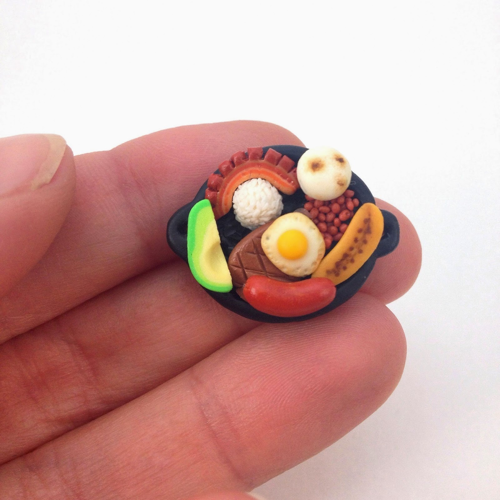 bandeja paisa miniature colombian food mini