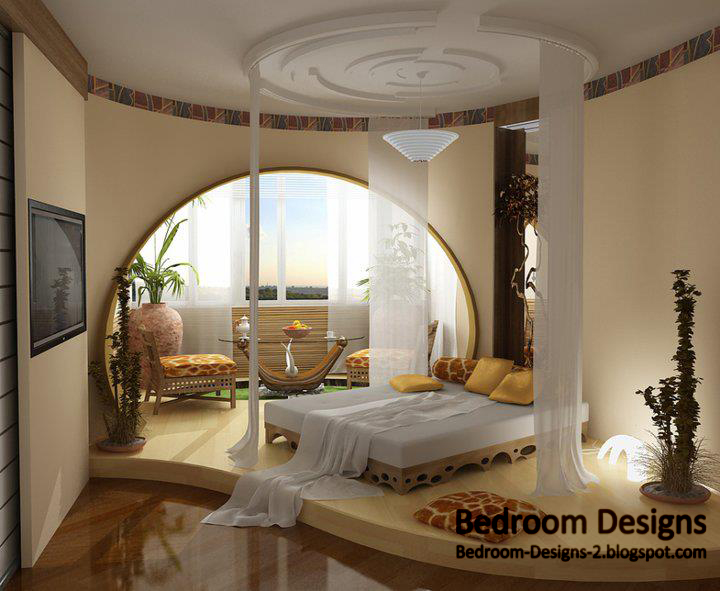3 bedroom ceiling designs with round ceiling curtains for Bedroom curtains designs
