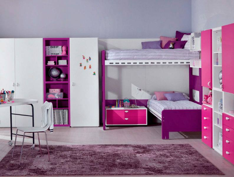 lits superpos s int ressants id es pour gar ons et filles. Black Bedroom Furniture Sets. Home Design Ideas
