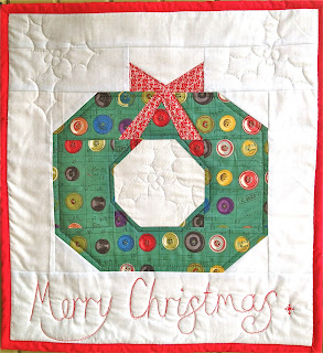Lawson and lotti sew seasonal blog hop christmas wreath for Front door quilt pattern
