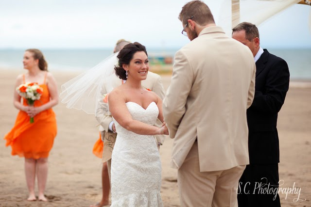 lake michigan beach wedding