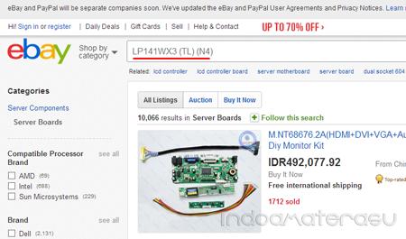 Membeli LCD Controler Board di ebay.com