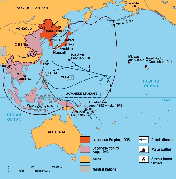 battles and tactics in the pacific theater  ThingLink