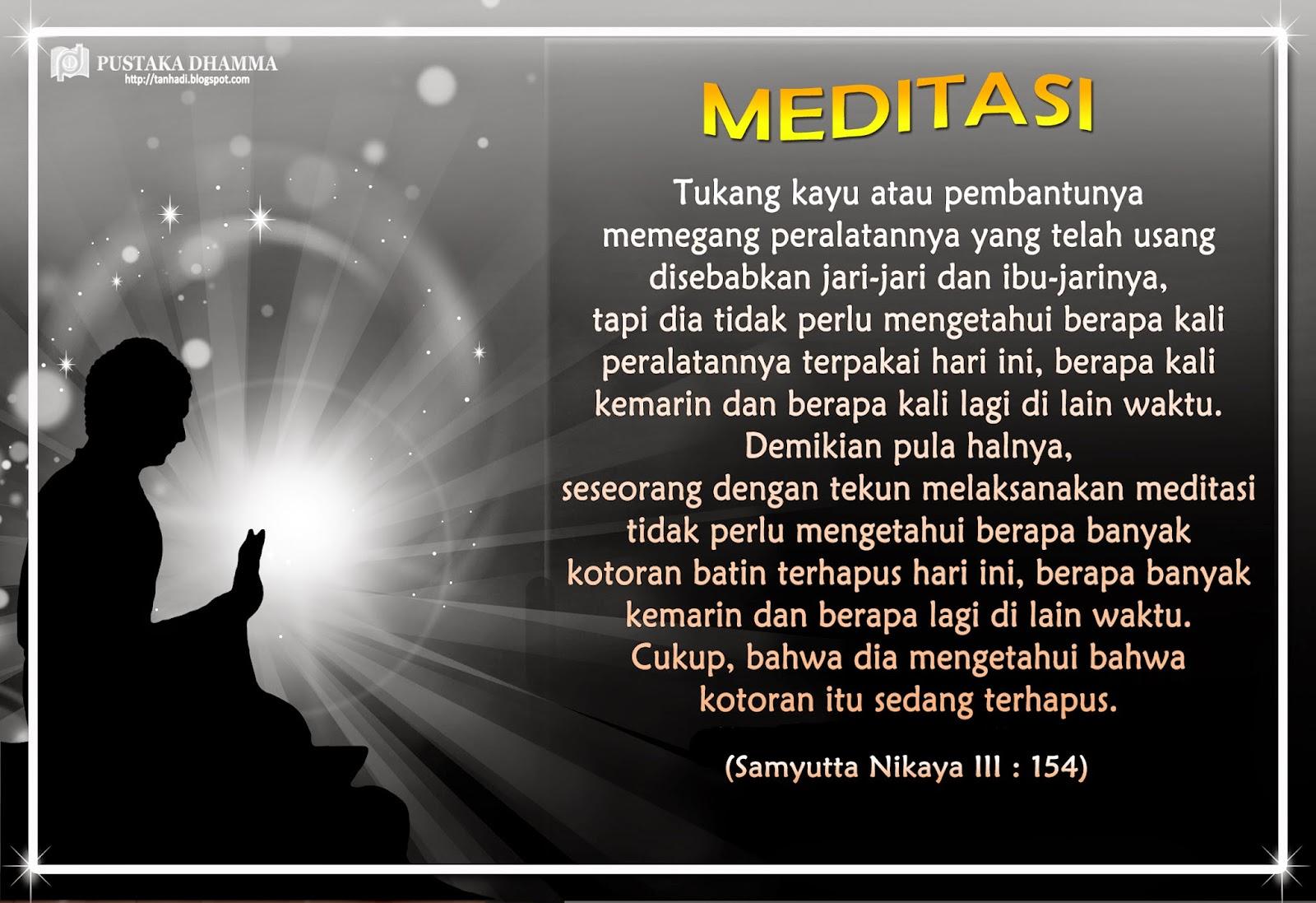 PUSTAKA DHAMMA Sabda Sang Buddha 110 Meditasi