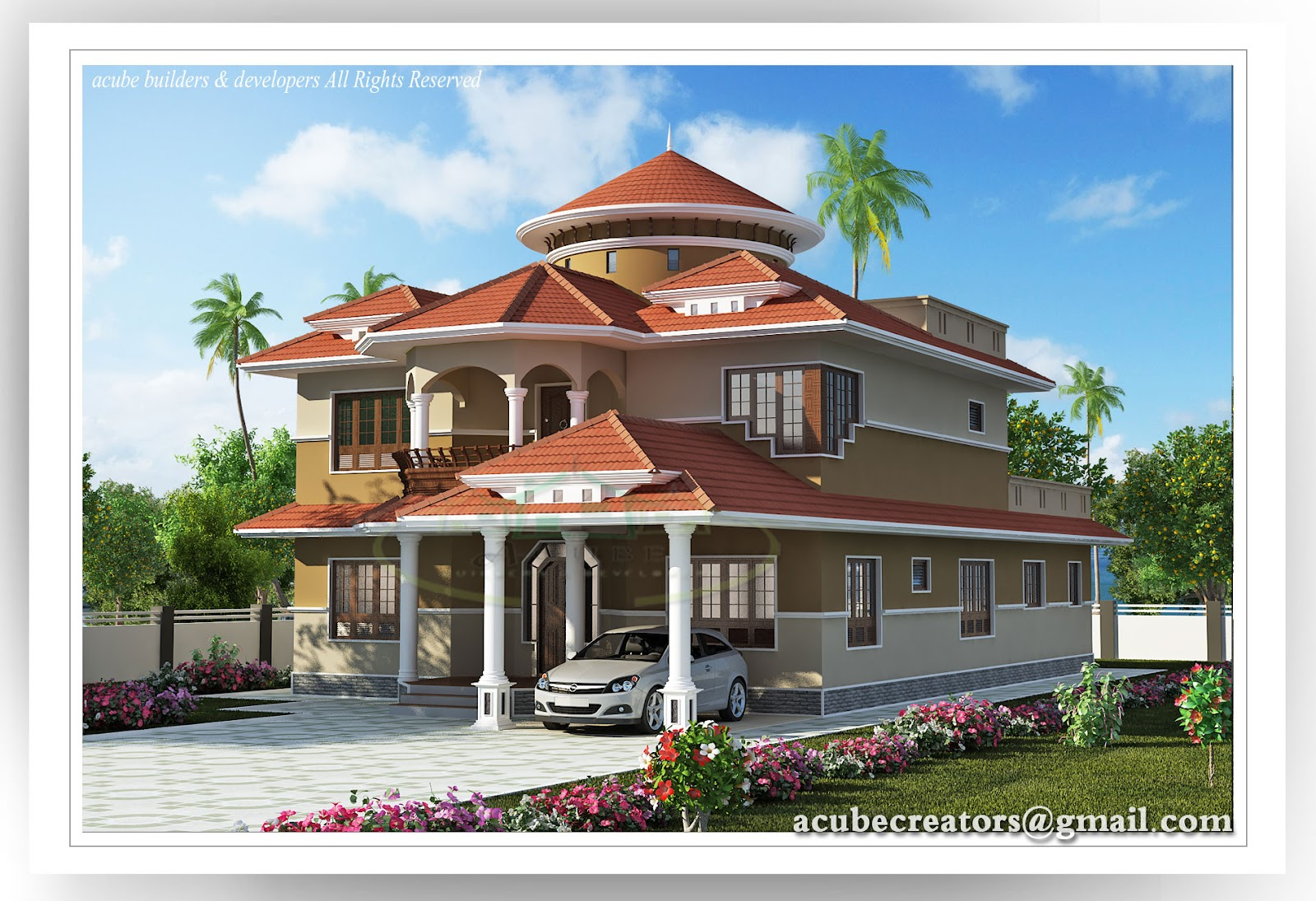 Beautiful kerala house 2804 plan 141 for Beautiful kerala house plans