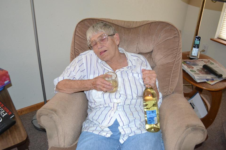 grandma porn Drunk