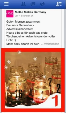 1. Türchen vom Mollie Makes Adventskalender
