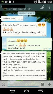 Testimoni Enfuselle Eye Treatment Shaklee
