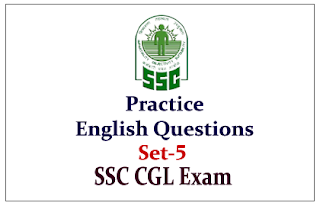 Practice English Questions for Upcoming SSC-CGL Exam