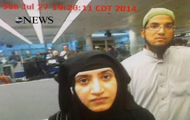 Publican una foto de los terroristas de la masacre en San Bernardino entrando en EE.UU