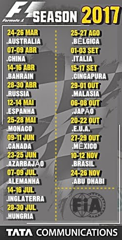 F1 - Calendário