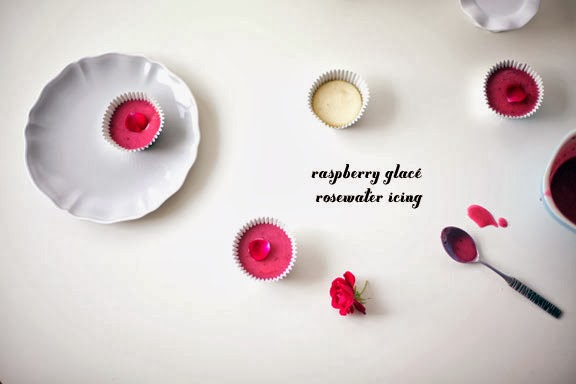 Raspberry Glacé Rosewater Cupcake Icing
