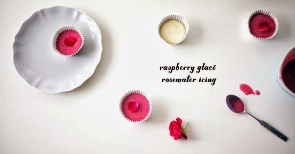 ... Cakes Cupcakes Vancouver BC: Raspberry Glacé Rosewater Cupcake Icing