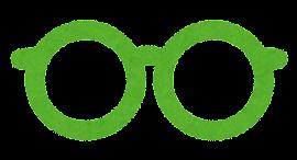 眼鏡のマークのイラスト「緑」