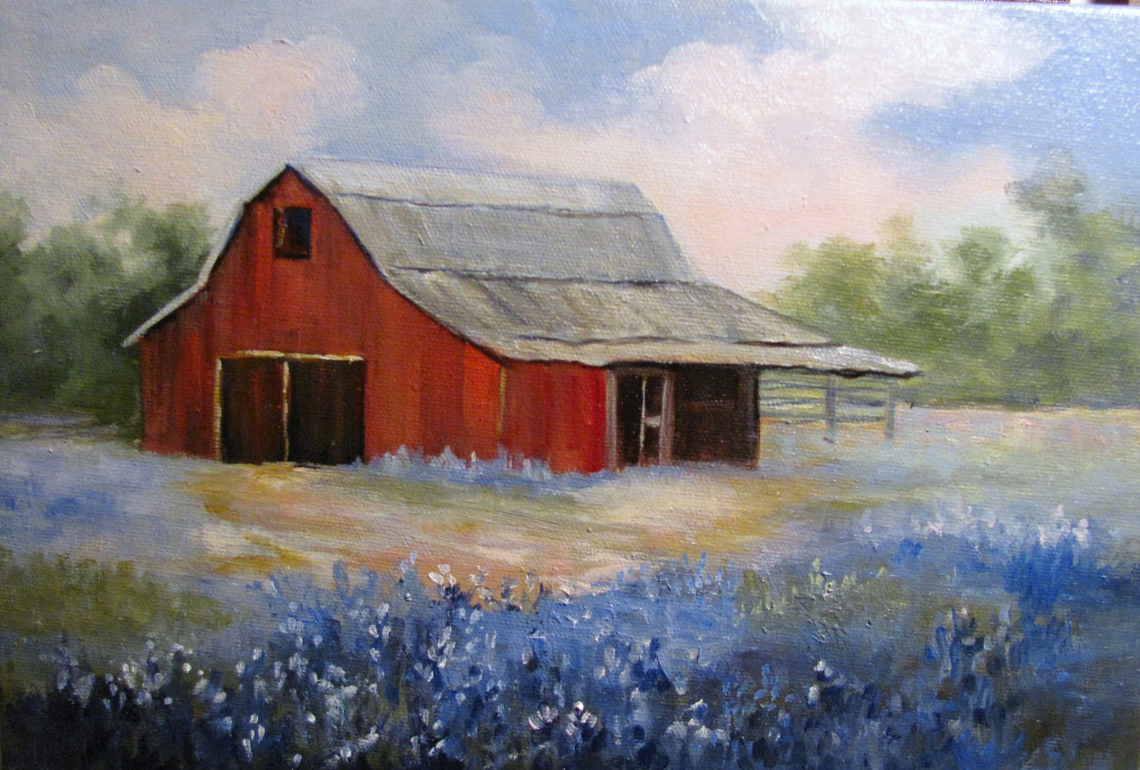 Artists of texas contemporary paintings and art 5 1 11 for Watercolor barn paintings
