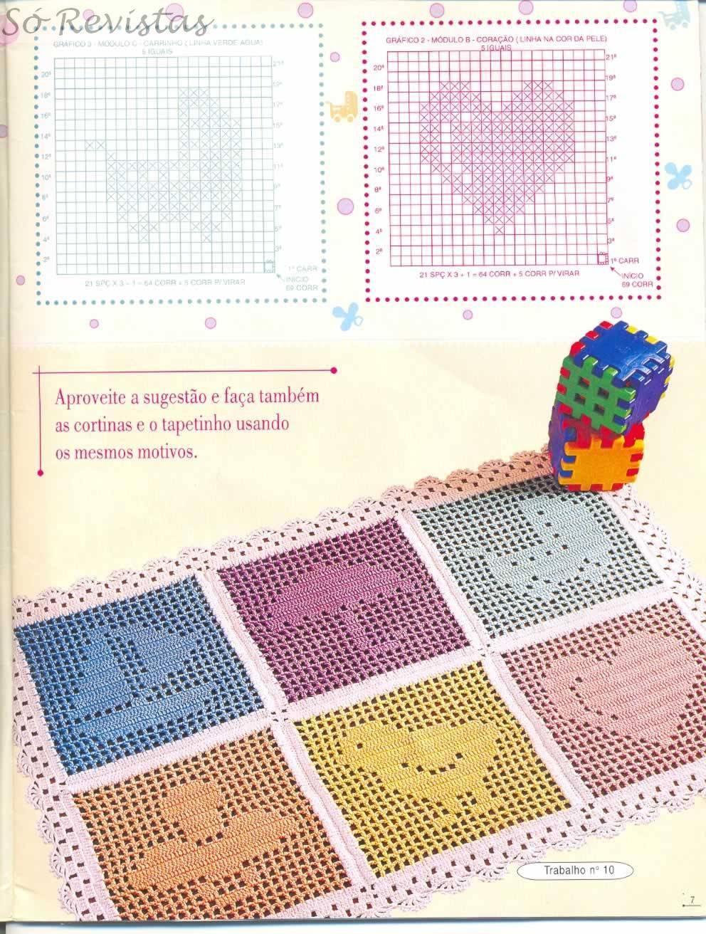 Картинки схем для вязания крючком пледов