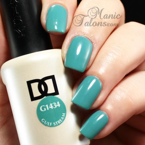 Daisy Duo Gulf Stream Swatch, gel polish, soak off gel