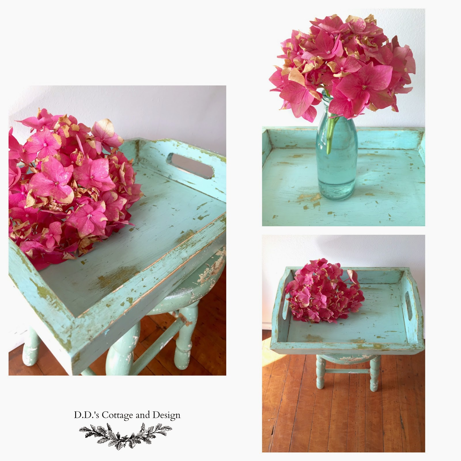 Giving a tray a Beach/Shabby makeover and some character