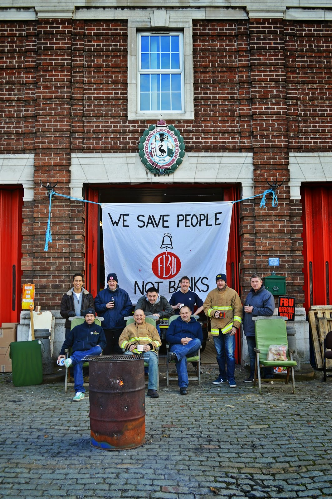 As teachers and NHS staff strike, humble firefighters fight privatisation when they are not fighting fires.