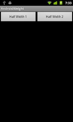 通過 Java 代碼設定 layout_width 為 50%