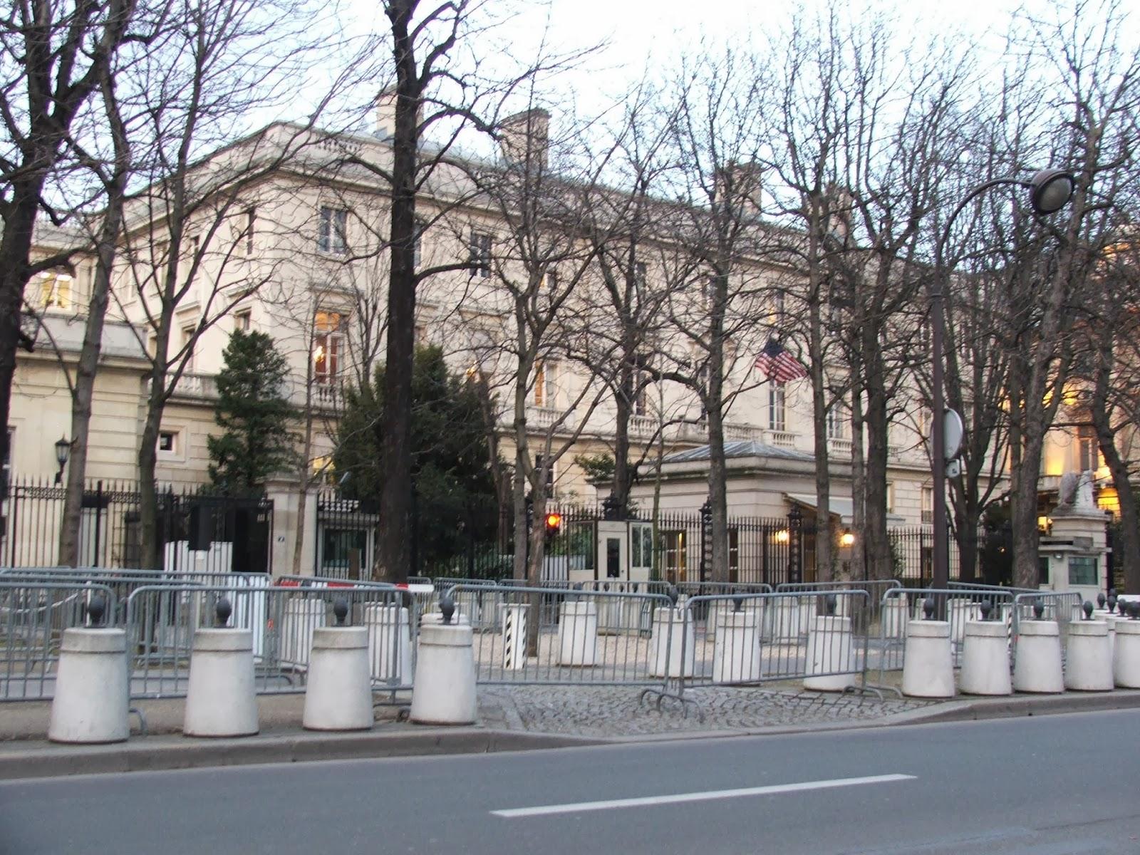 Ambassade des états unis à Paris