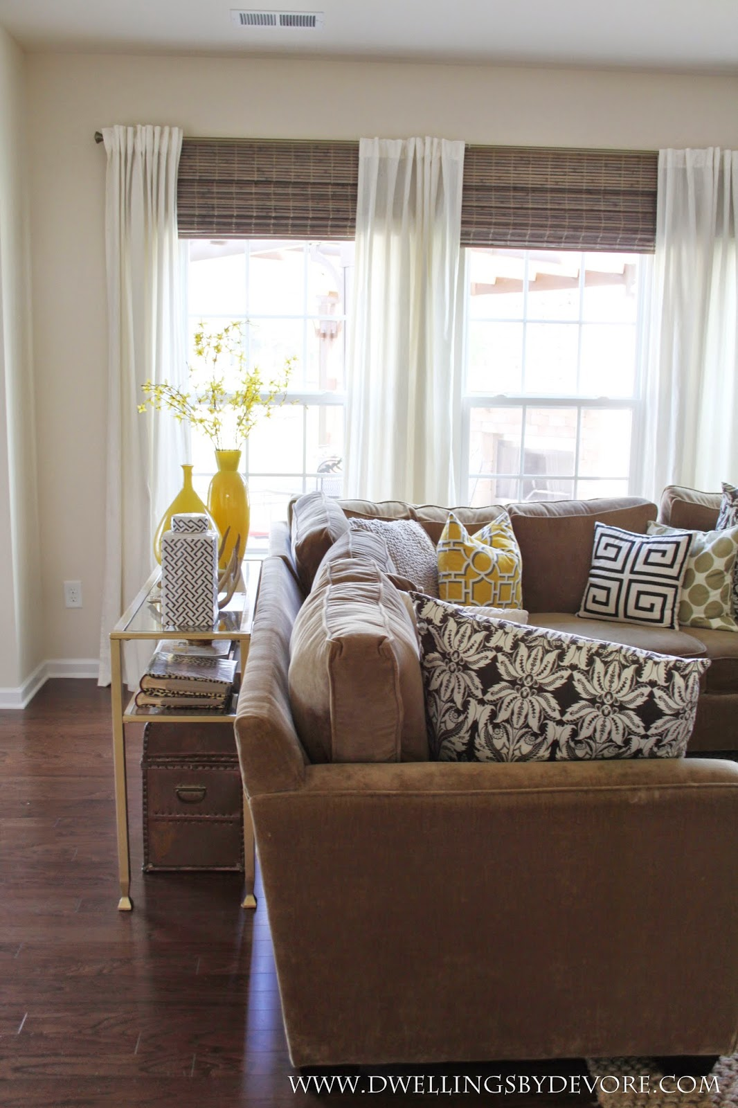 How To Make Your Room Look Bigger Dwellings By Devore Bamboo Shades To Make Your Windows Look Larger