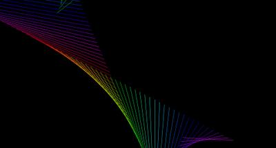 Random Flowing lines