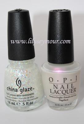 China Glaze Snow Globe & OPI  Papua Pink Pearl Nail Polish