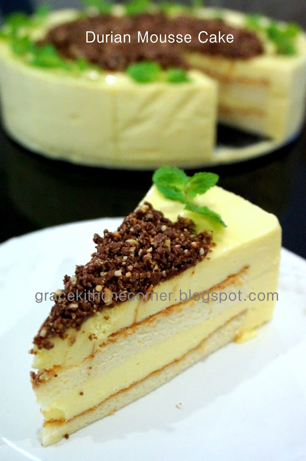 How To Get Vomit Smell Out Of Car >> Kitchen Corner: Durian Mousse Cake II