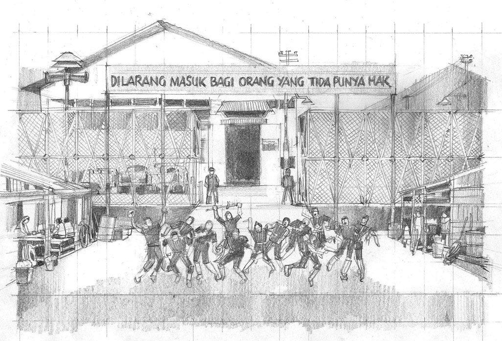 """contoh """"story board""""drama musikal Laskar Pelangi"""