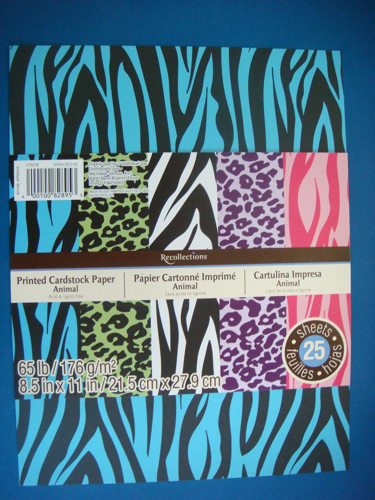Carolyn 39 s creative corner animal prints card set using for Michaels crafts hours of operation