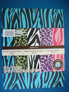 Carolyn 39 s creative corner animal prints card set using for Call michaels arts and crafts
