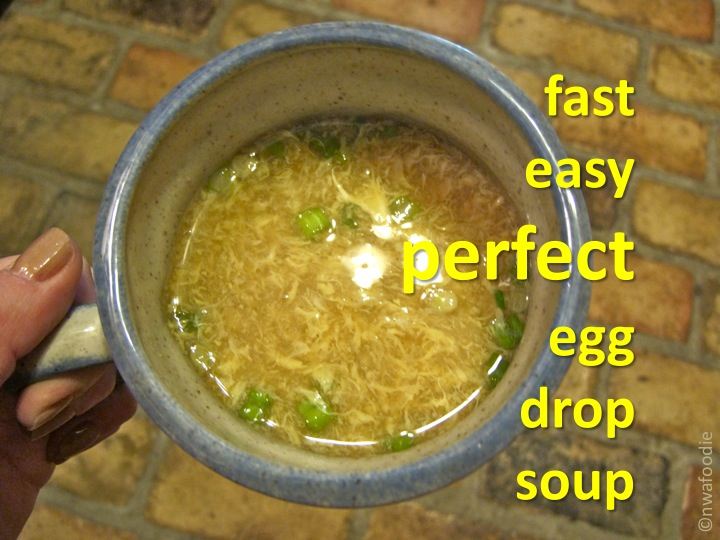 nwaFoodieEgg drop soup. Its fast, easy, and perfect.