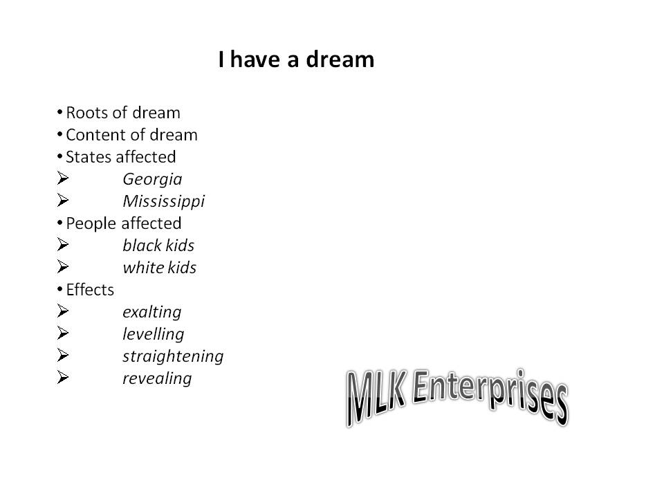 Literary analysis i have a dream speech