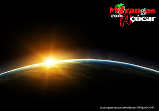 Fundo de tela dos Morangos com Açucar Logotipo da série juvenil em wallpaper Eclipse Visto do Espaço