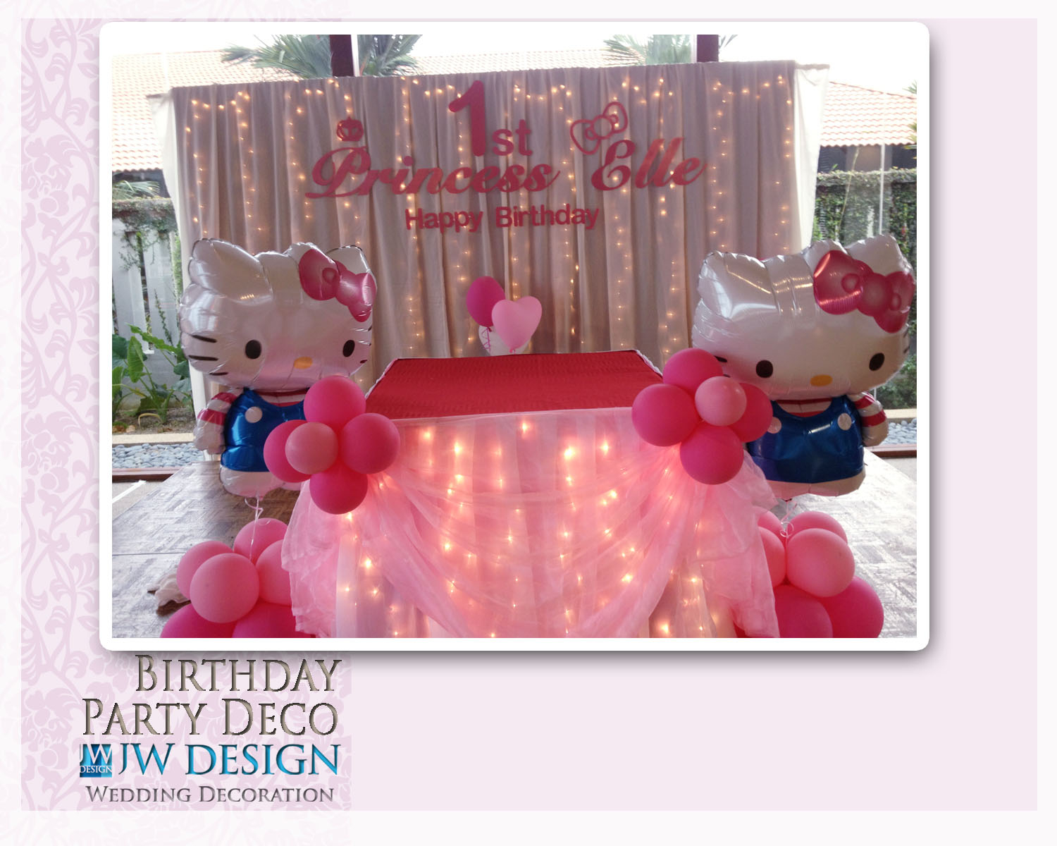 JW Design Wedding Decoration Birthday PartyHello Kitty Theme