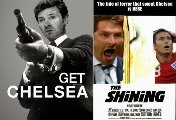 Get Chelsea, The Shining, Andre Vilas Boas, funny, football film poster, movie poster, meme, Chelsea,