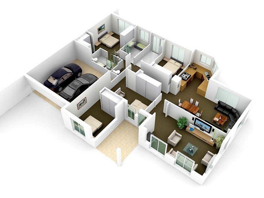 3D Floor On Interior 5