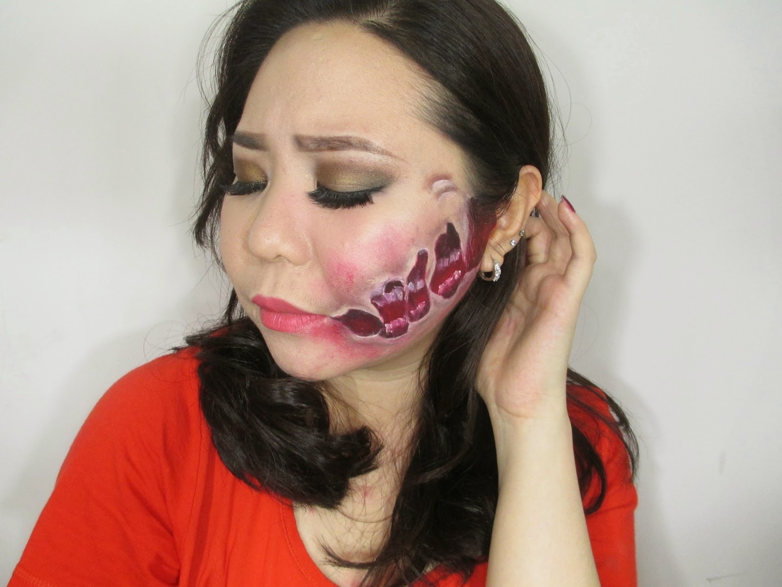 how to create a torn and ripped skin effect with face paint