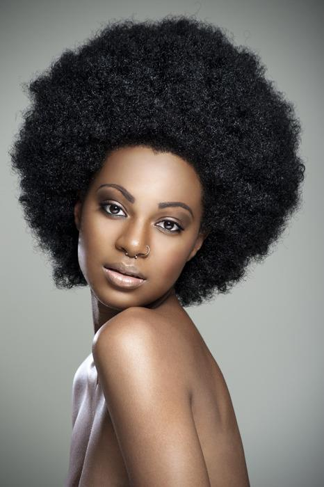 Natural Afro With Color