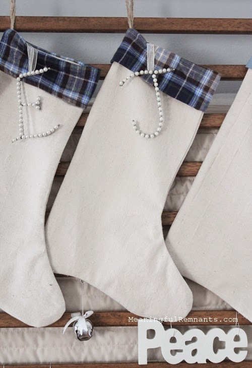 Christmas stockings with plaid cuffs