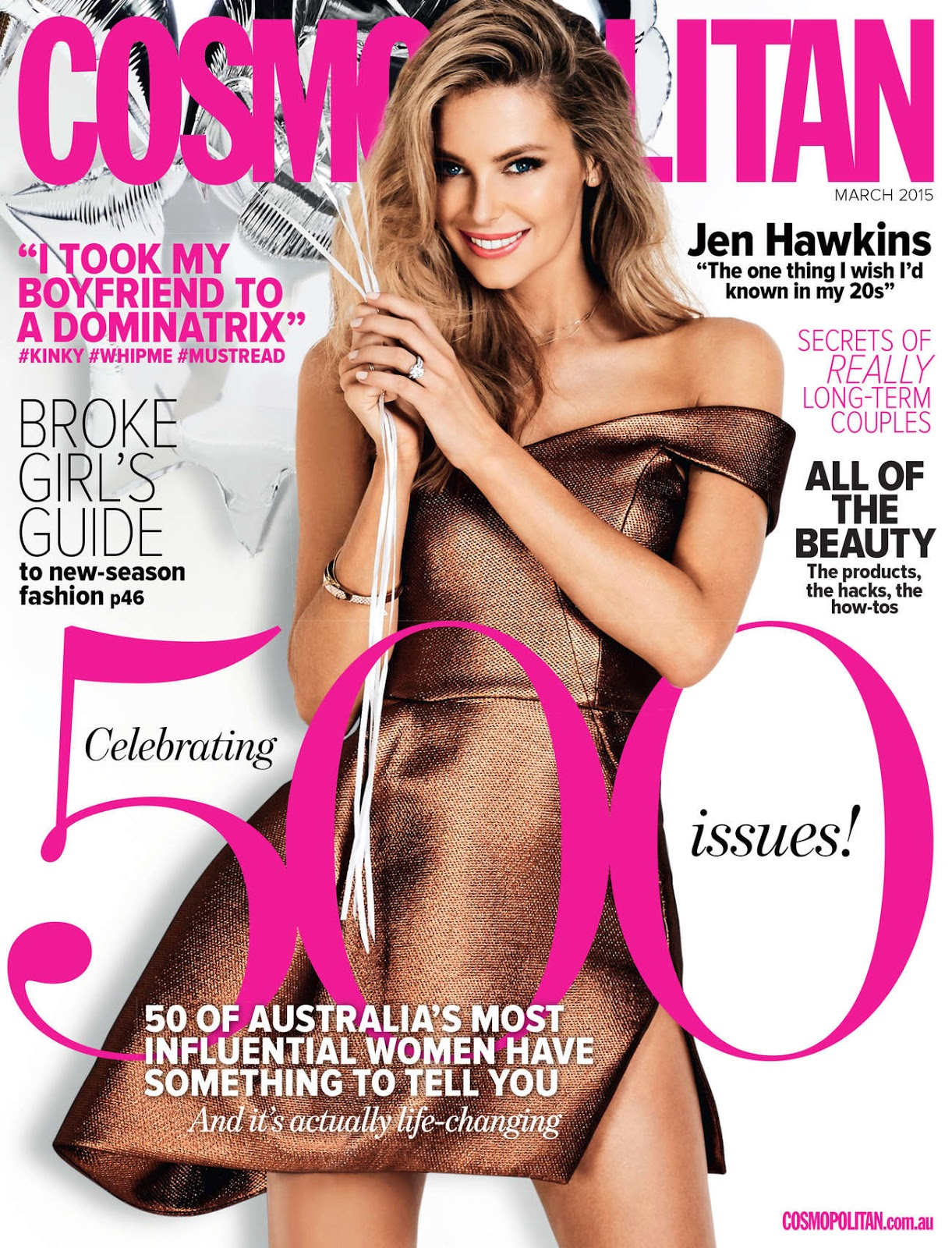 Model: Jennifer Hawkins for Cosmopolitan Australia