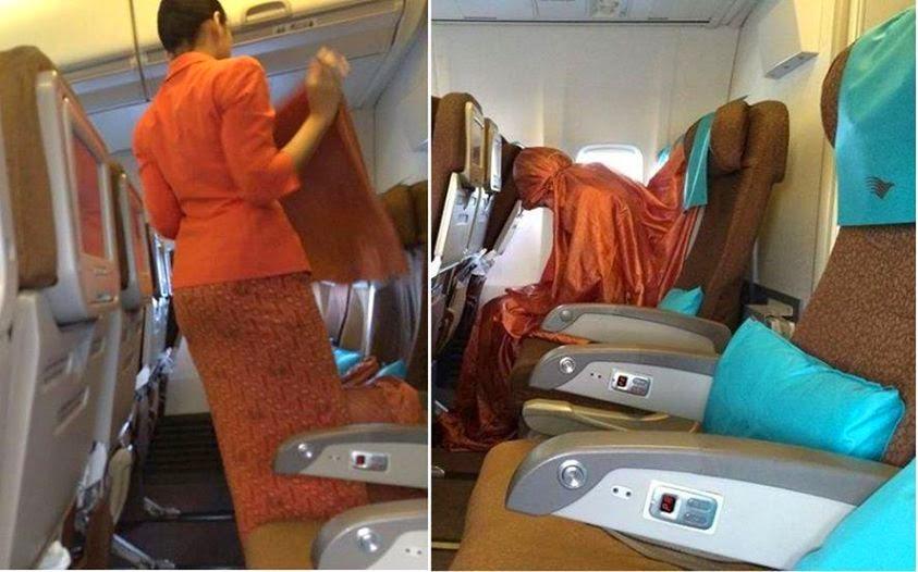 Disangka Akan Ganti Baju, Ternyata Pramugari Garuda Shalat di Pesawat