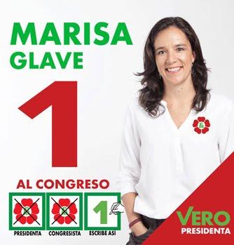 Marisa Glave, candidata N° 1 por Lima de FRENTE AMPLIO