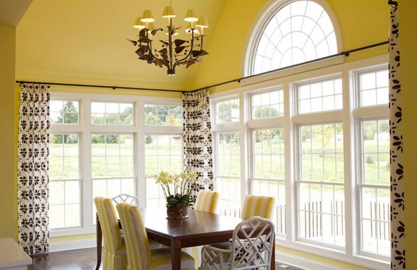 Ruang Makan Cantik Berwarna Kuning Cerah