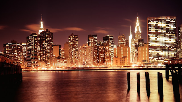 Manhattan Night HD Wallpaper