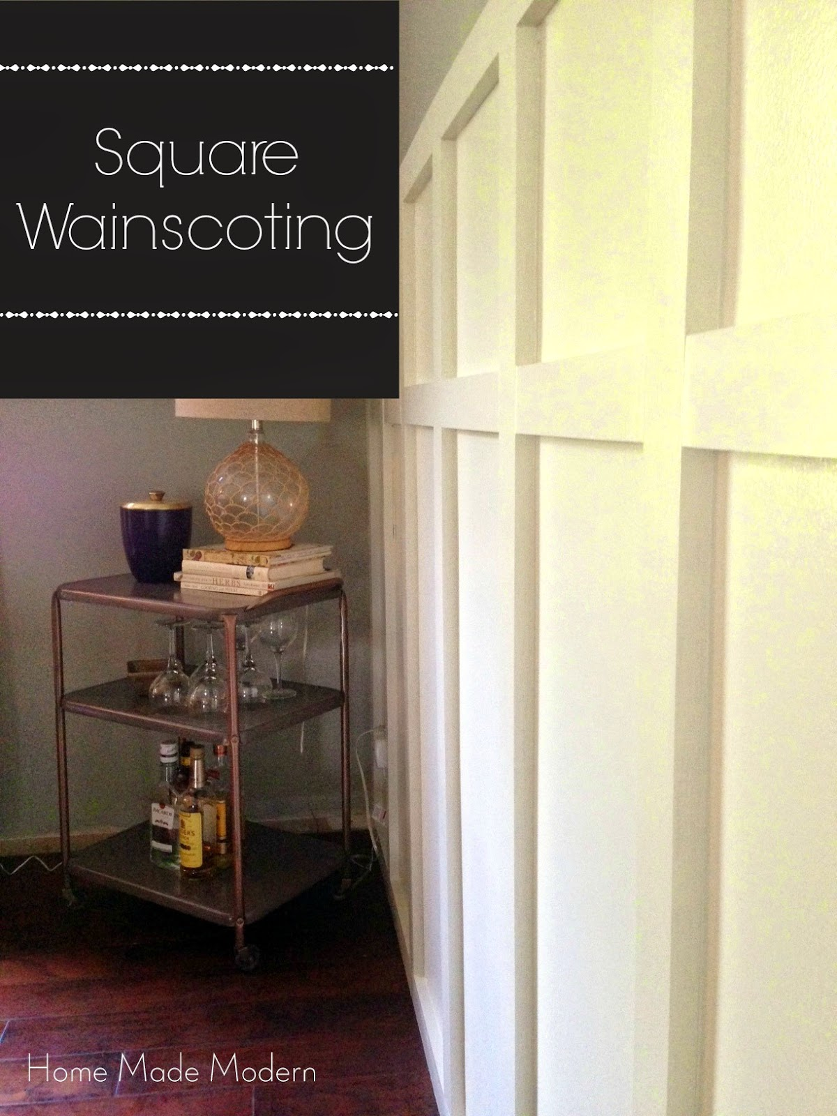 Wainscoting modern dining room - Home Made Modern Square Wainscoting In The Dining Room High