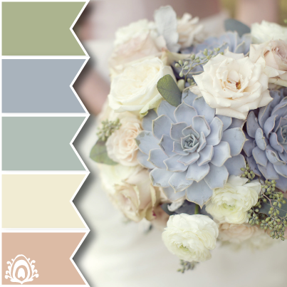 DELICATE FLOWERS color palette pastel feather studio