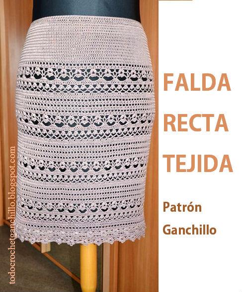 patrones de falda tejida con ganchillo para todos los talles